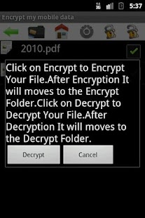 Encrypt my mobile data - screenshot thumbnail
