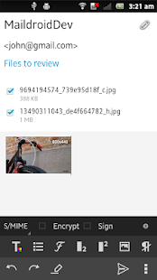 MailDroid - Email Application - screenshot thumbnail