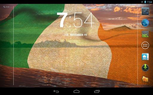 【免費個人化App】3D Ireland Flag Live Wallpaper-APP點子