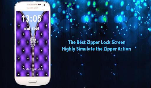 Zipper Style Lock Screen