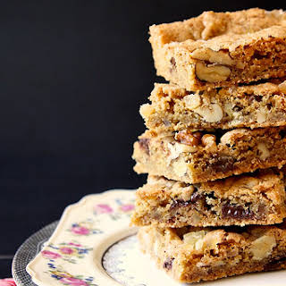 Ginger Walnut Chocolate Blondies.