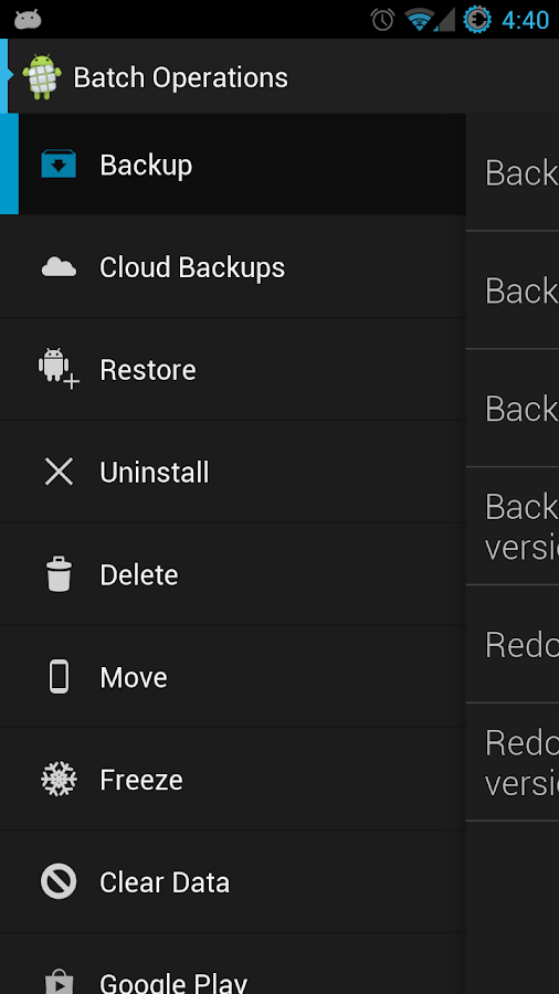 Ultimate Backup - screenshot