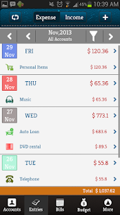 Money Log Free Budget Manager - screenshot thumbnail