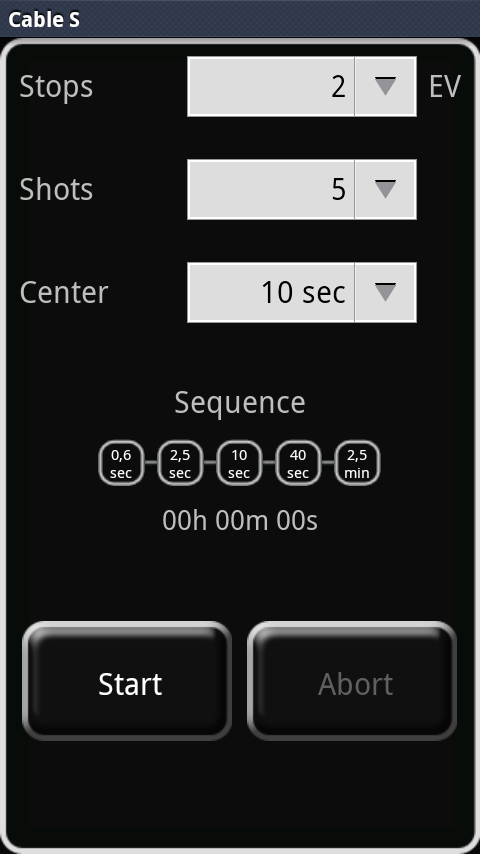 DSLR Remote: captura de pantalla