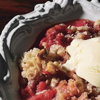 Strawberry and Rhubarb Crumble.