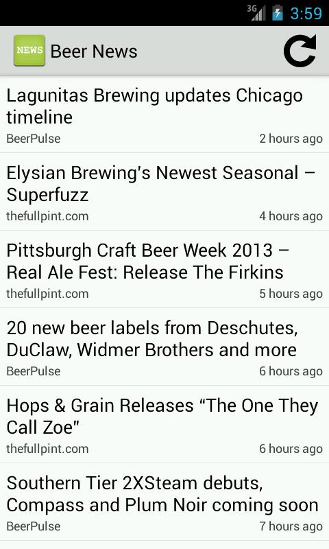 Beer News - screenshot