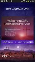 Screenshot of Xt3 Lent Calendar 2015