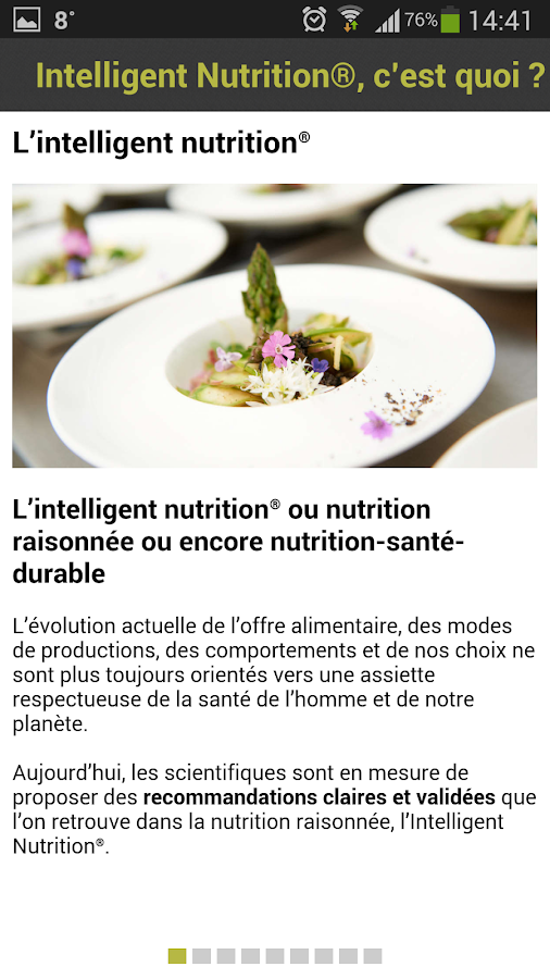 Intelligent Nutrition – Capture d'écran