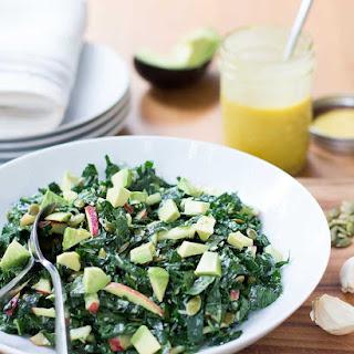 Kale Salad with Apple, Avocado, Parmesan & Honey Mustard Vinaigrette
