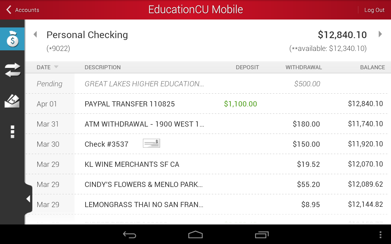 EducationCU Mobile - screenshot