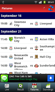 Barclays Premier League Info - screenshot thumbnail