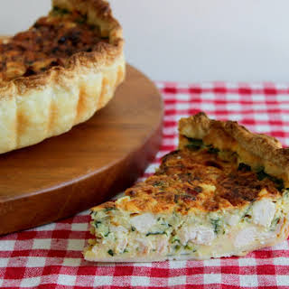 Chicken, Bacon, and Spinach Quiche.