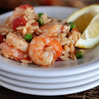 Baked Shrimp and Orzo with Feta Cheese