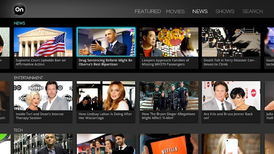 AOL On for Google TV- screenshot thumbnail