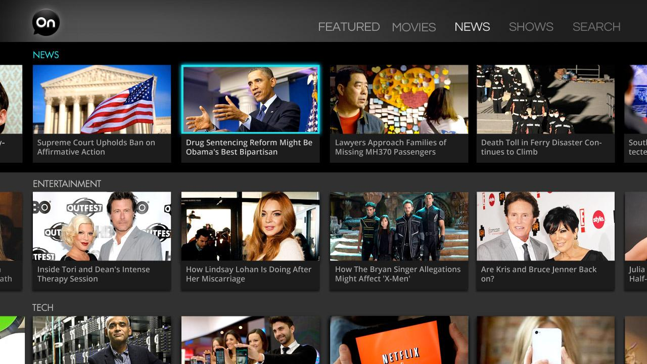 AOL On for Google TV- screenshot