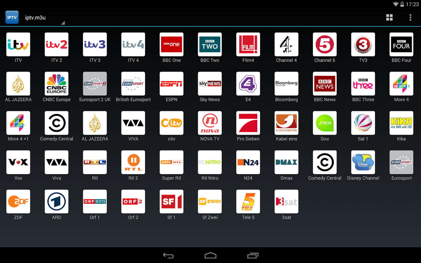 IPTV- screenshot