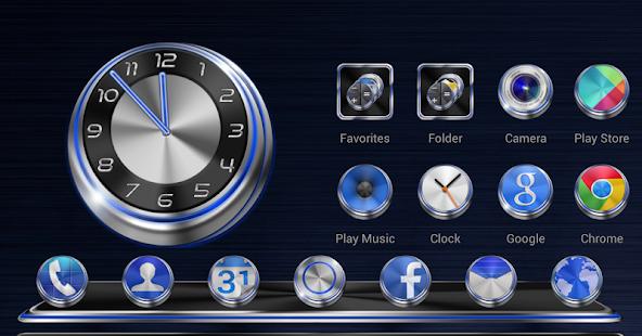 Next Launcher Theme Techno 3D - screenshot