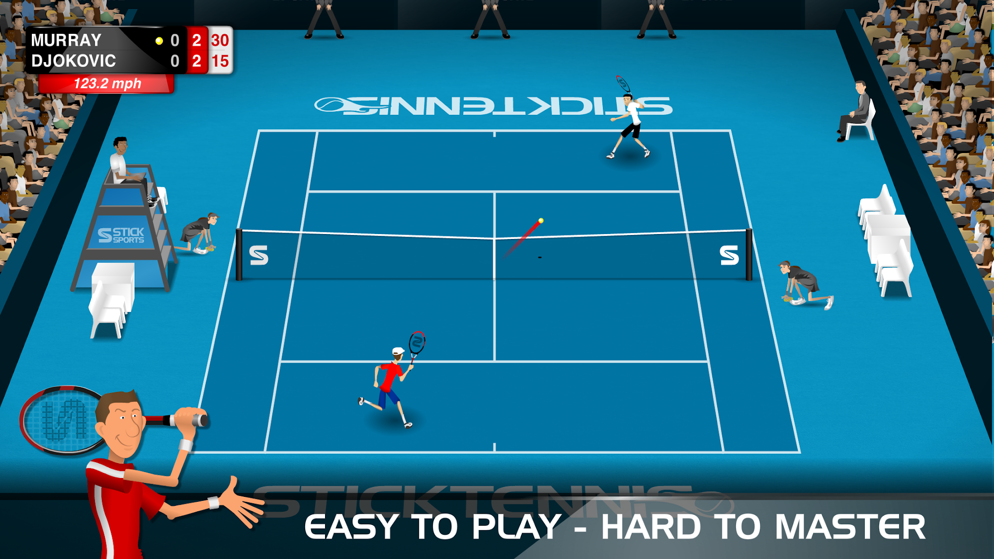 Stick Tennis screenshot #1
