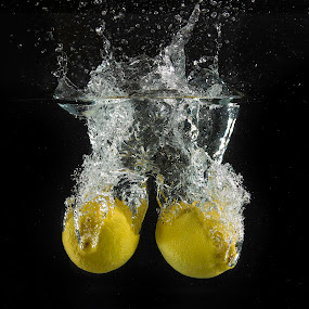 Lemon Drops 2 by Troy Wheatley - Food & Drink Fruits & Vegetables ( water, lemons, fruit, citrus, splash )