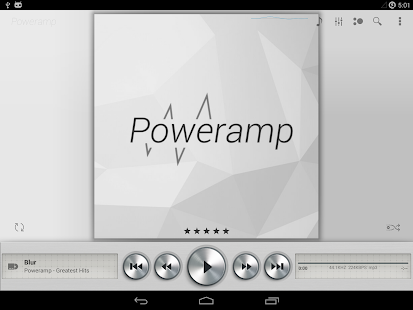 Skin for Poweramp Light Metall- screenshot thumbnail