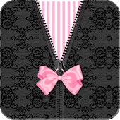 Black Pink Bow Lace Go Locker