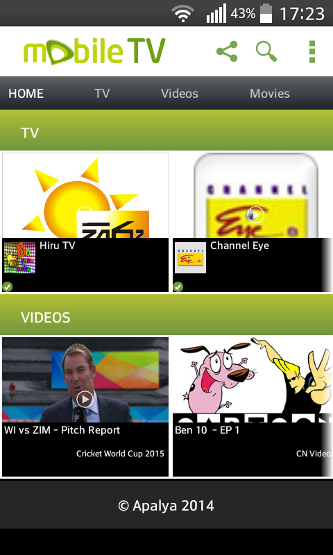 Download Etisalat Live Mobile TV APK 4 by Apalya Technologies Pvt