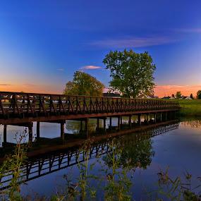 Trance by Abhinav Ganorkar - Landscapes Waterscapes ( skyline, waterscape, sunset, landscape, river,  )