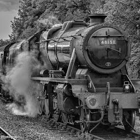 Steam Train by Simon Sweetman - Transportation Trains ( england, british, locomotive, steam train, train, steam )
