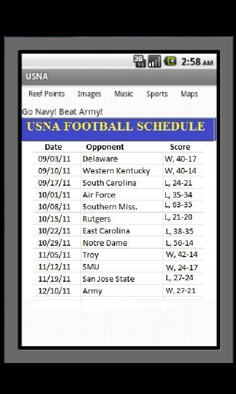 US Naval Academy - USNA- screenshot