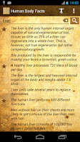 Screenshot of Daily Amazing Human Body Facts