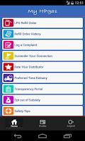 Screenshot of HP GAS App