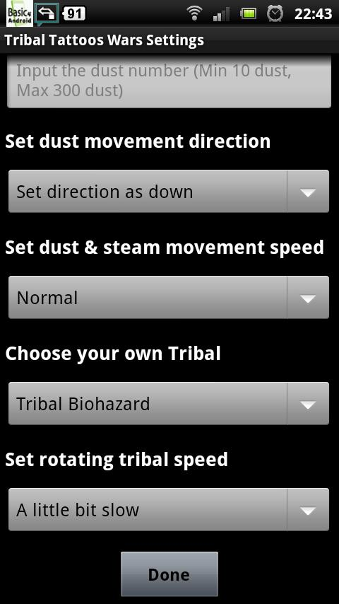 Tribal Tattoos Wars LWP- screenshot