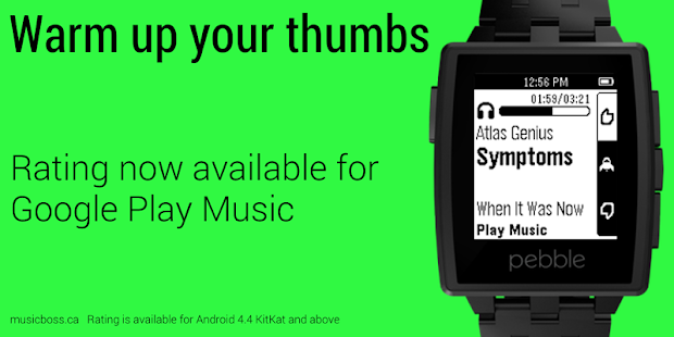 Music Boss for Pebble - screenshot thumbnail
