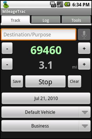 MileageTrac Trial Mileage Trac - screenshot