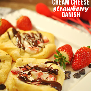 Cream Cheese Strawberry Danish