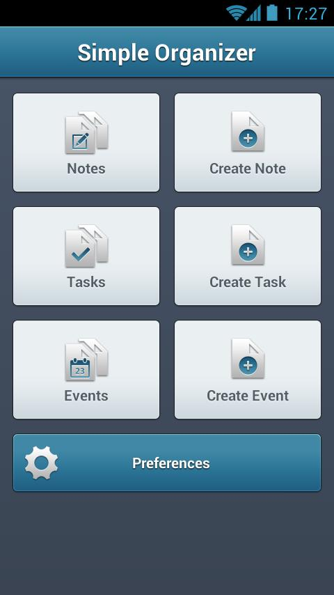 Simple Organizer - screenshot