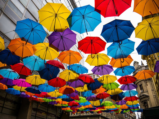 Yes, there really is an Umbrella Street in Belgrade, Serbia.