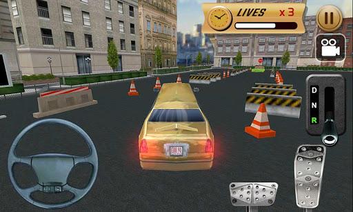名人豪華轎車停車3D