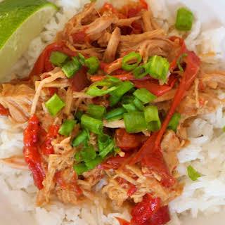 Thai Pork with Peanut Sauce (slow cooker).