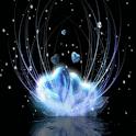 Blue Hearts on Snow Live Wallp logo