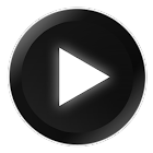 Poweramp Black and White Skin icon