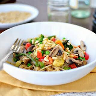 Roasted Vegetable Pasta Primavera.