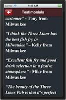 Screenshot of Three Lions Pub Milwaukee