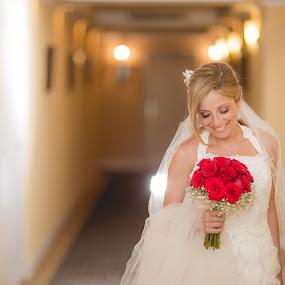 Dreams by Jorge Asad - Wedding Bride ( red, wedding, elelgance, beauty, bride )