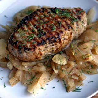 Pork Chops with Vermouth-Braised Fennel.