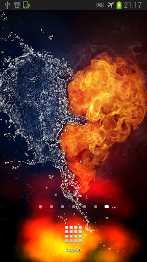 Water and Fire Heart LWP