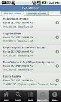 Screenshot of eVA Mobile 4 Business