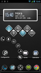 Next Launcher Theme Carbon HD - screenshot thumbnail