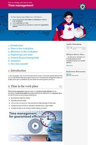 Time management- screenshot