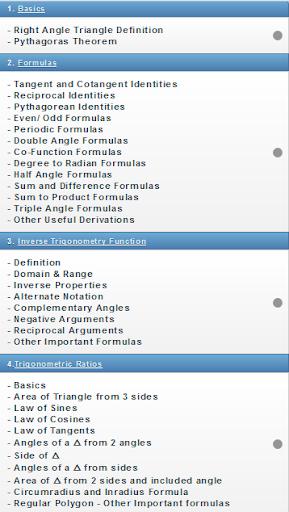 Trigonometry Reference Pro